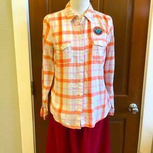 California Poppy Patch Upcycled Flannel